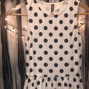 Black and white skater style dress